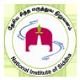 National Institute of Siddha logo